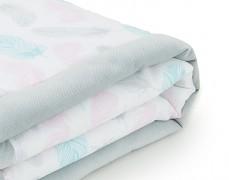 Dětská deka šedé peříčko velvet