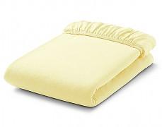 Bavlněné prostěradlo žluté s gumičkou