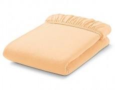 Bavlněné prostěradlo oranžové s gumičkou