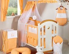 Vybavení dětské postýlky oranžový Měsíc