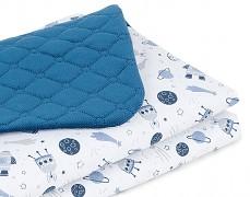 Dětská deka modrá kosmos velvet