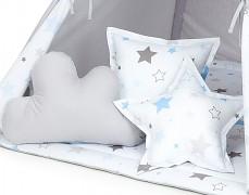 Set polštářků modro-šedé stars