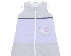 Dětský spací pytel fialovo-šedé slůně, s nohavičkou