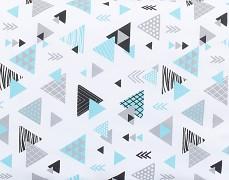 Detail motivu tyrkysové trojúhelníky