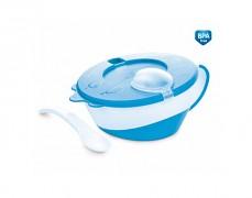 Dětská modrá miska s lžičkou