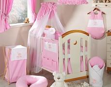 Vybavení dětské postýlky růžový obláček