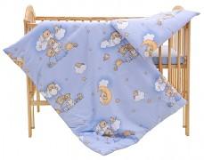 Dětské povlečení modré se spícími medvídky