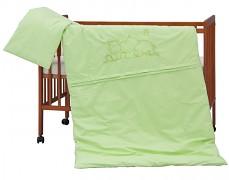 Dětské povlečení zelený hrošík