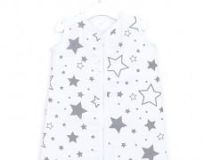Dětský spací pytel šedobílé hvězdy