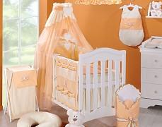 Vybavení dětské postýlky oranžový zajíček