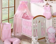 Vybavení dětské postýlky růžový medvídek Love