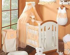 Vybavení dětské postýlky oranžový medvídek Love
