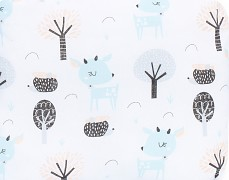 Detail motivu bílá srnka