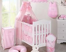 Vybavení dětské postýlky růžový zajíček