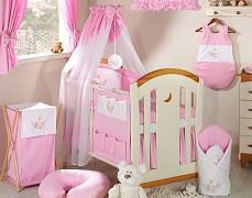 Vybavení dětské postýlky růžová houpačka