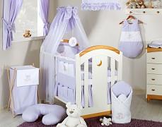 Vybavení dětské postýlky fialový obláček
