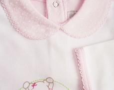 Body bílo-růžové s límečkem