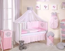 Dětská souprava do postýlky růžové slůně