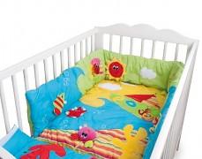 Multifunkční hrací deka s hrazdičkou Oceán