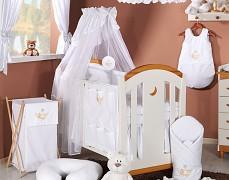 Vybavení dětské postýlky bílá houpačka