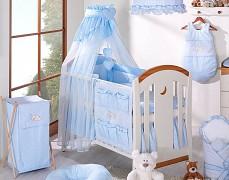 Vybavení dětské postýlky modrý Snílek