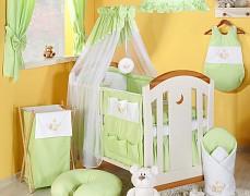 Vybavení dětské postýlky zelená houpačka