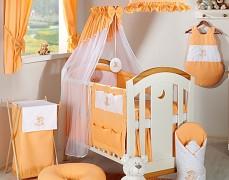 Vybavení dětské postýlky oranžový obláček