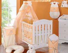 Vybavení dětské postýlky oranžový obláček kostička