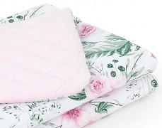 Dětská deka růžová zahrada s růžovou velvet