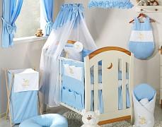 Vybavení dětské postýlky modrý obláček