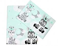 Dětské povlečení mint zebra