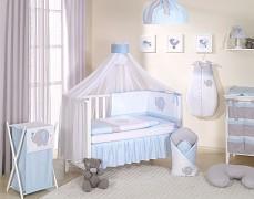 Vybavení dětské postýlky modré slůně