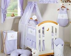 Vybavení dětské postýlky fialová houpačka