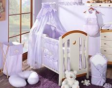 Vybavení dětské postýlky fialový Snílek
