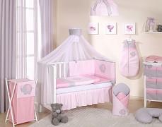 Vybavení dětské postýlky růžové slůně