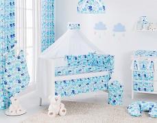 Vybavení dětské postýlky modří sloníci