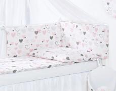 Vybavení dětské postýlky Pink heart