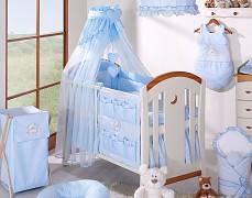 Vybavení dětské postýlky modrý medvídek Love