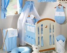 Dětský pokojíček modrý medvídek na měsíci