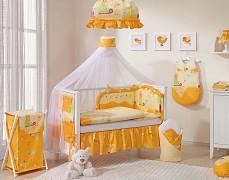Vybavení dětské postýlky oranžový hlemýždí domek