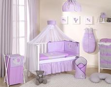 Vybavení dětské postýlky fialové slůně