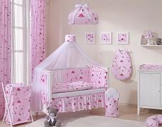 Vybavení dětské postýlky růžová Kitty