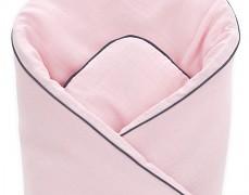 Zavinovačka růžová světlá mušelínová s mašlí