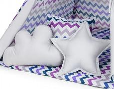 Set polštářků fialový ZigZag