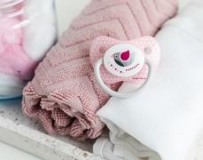 Kojenecké šidítko růžové PARTY silikonové