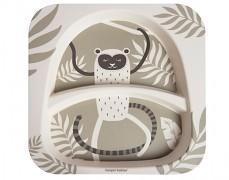 Bambusový dělený talířek LEMUR