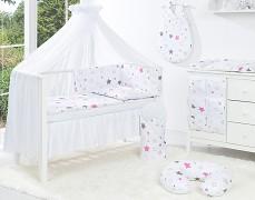 Vybavení dětské postýlky růžovo-šedá stars