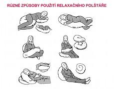 Použití relaxačního polštáře XL
