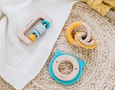 Dřevo-silikonové hračky pro nejmenší