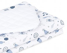 Dětská deka bílá kosmos velvet